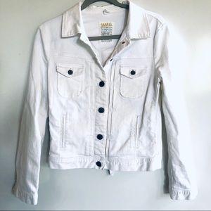 J. Crew EUC white denim jean jacket, size small
